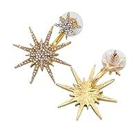 1PC elegante lucido orecchini con strass Dance cocktail orecchio giacca Jewelry Amesii