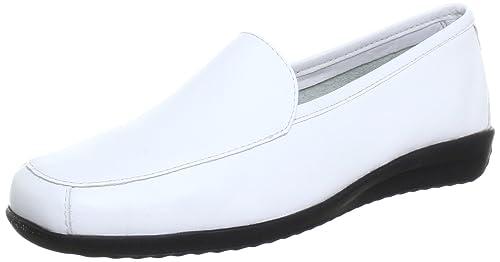 Slipper - Mocasines de cuero para mujer blanco Weiß (WHITE) 37: Amazon.es: Zapatos y complementos