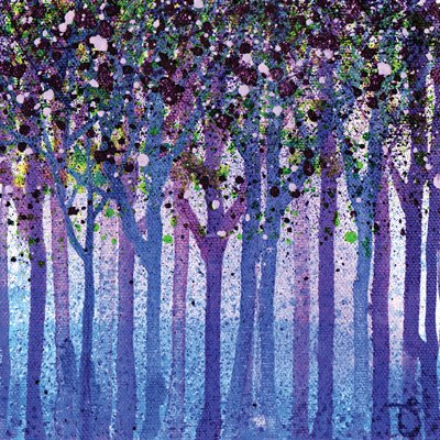 Blank Card - (HOG-RT101) - Bluebells & Blossom - Artistic - Suitable For Birthdays & Other Occasions Heart Of A Garden