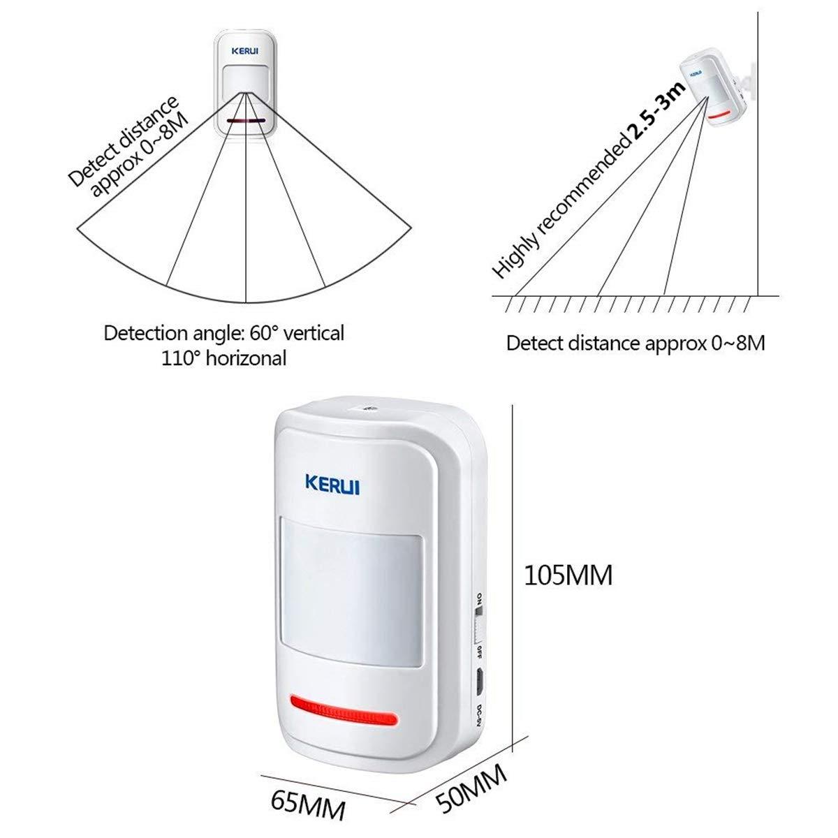 Kerui Wireless Pir Motion Sensor For Gsm Alarm Systems Diagram The Additional Electronics An External