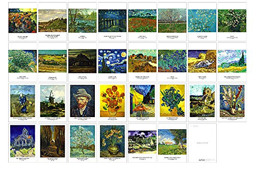 Van Gogh Note (New Collectible Edition!artist and Van Gogh collection postcards. 30 Various Van Gogh Postcards 4x6 Inch(Van Gogh))