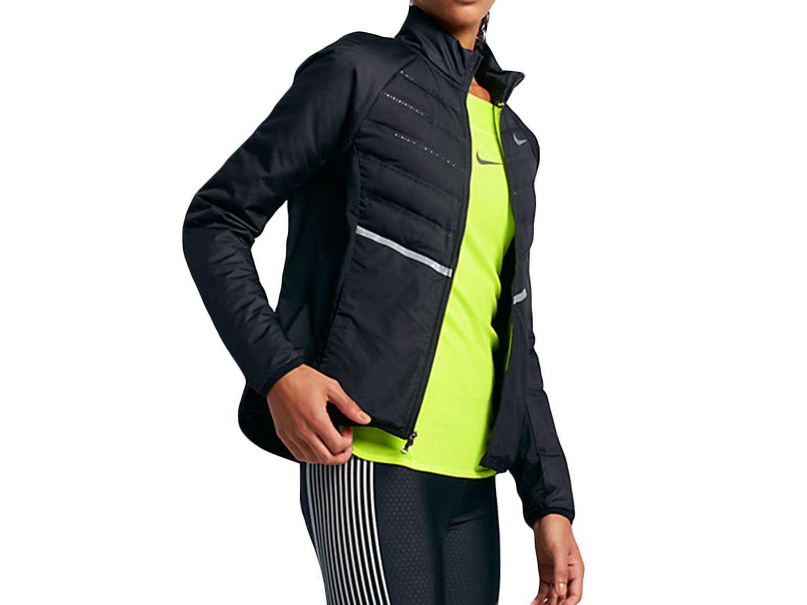 Nike AeroLoft Women's Running Jacket (Medium, Black/Reflective Silver) by NIKE