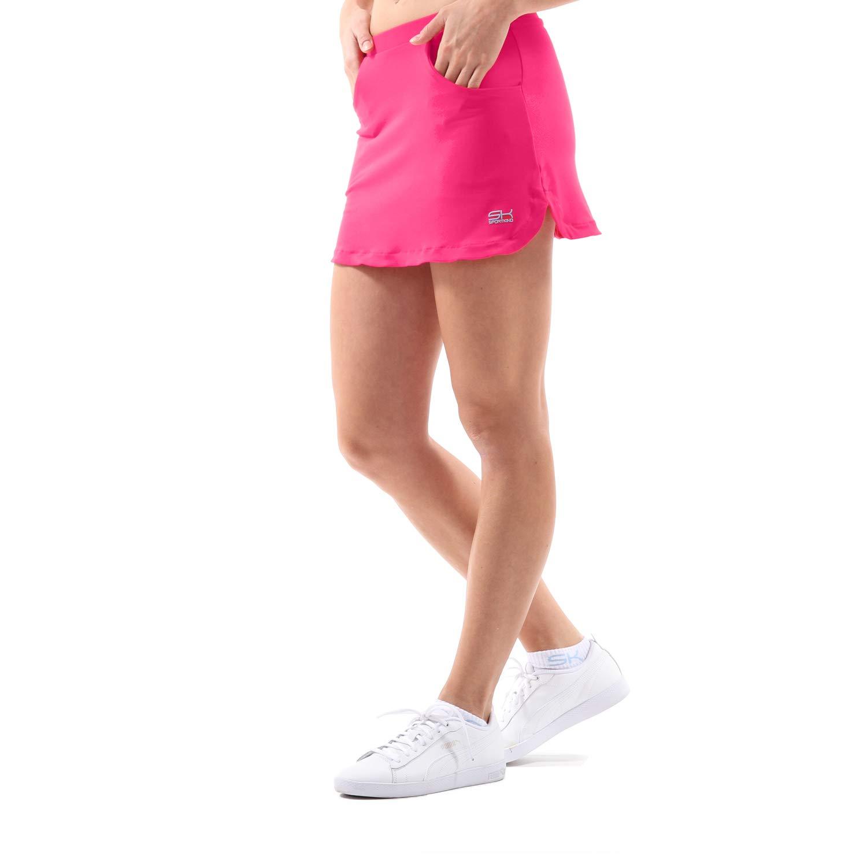 SPORTKIND - Falda de tenis (con pantalón integrado), color rosa ...