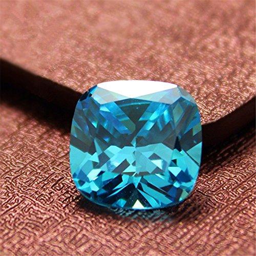 Aquamarine Square Faceted Gemstone Cushion Cut Aquamarine Gem 4 Sizes to Choose C05A