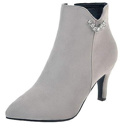Artfaerie Damen High Heels Stiefeletten Reißverschluss Mit Lc4AS3R5jq