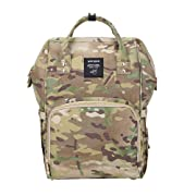 Gizwise Camo Backpack Diaper Bag for Women Men Insulated Toddler Travel Backpack with Stroller Hook