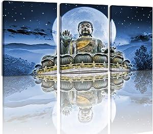 MELTBOR Mandala Buddha Canvas Wall Art Keep Inner Peaceful Artwork for Living Room Yoga Room Décor 12''x16''x3