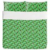 Brazilian Football Duvet Bed Set 3 Piece Set Duvet Cover - 2 Pillow Shams - Luxury Microfiber, Soft, Breathable