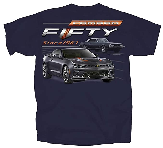 Amazon Com 1967 2017 Chevy Camaro Fifty Year Muscle Car T Shirt