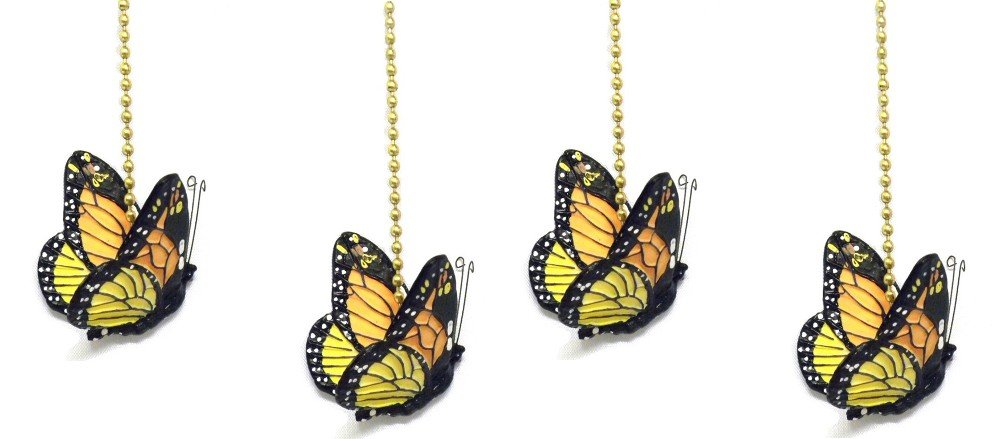 WeeZ Industries - Monarch Butterfly Ceiling Fan Pull Chain Extension Ornament 6''L (4)