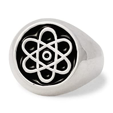 Atomic Symbol Ring In Sterling Silver 925 Atom Cloud Size 4 To 16