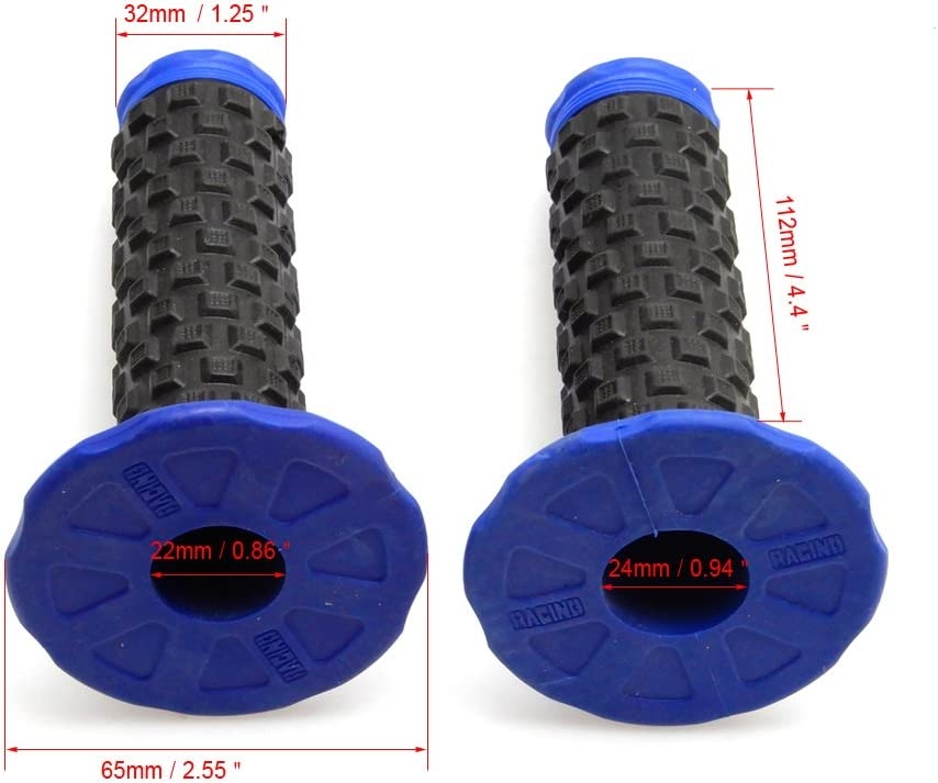 blue Motorcycle Handlebar Grips 7//8 22mm 28mm Dirt Pit Bike Universal Pro Part Racing Rubber For YZ125 YZ250 YZ350 YZF YZ250F YZ450F 250 450 WR WRF WRF250 WRF450 WR250F WR450F