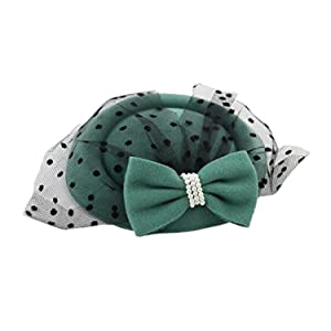 19f8fe79 Women's Fascinators Hat Pillbox Hat Cocktail Party Hat with Veil Hair Clip  (Green)