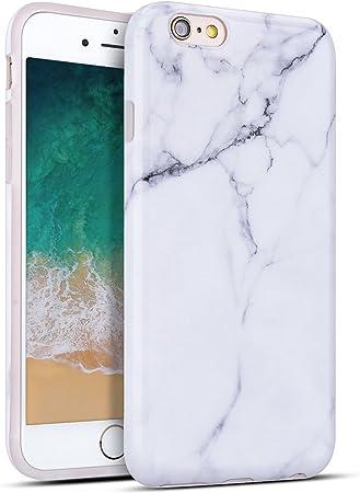 Cover per Apple iphone 6, MoEvn Custodia iphone 6s Silicone Marmo Ultra Sottile Leggera Morbido Flessibile TPU Caso Effetto Naturale Marble Design ...