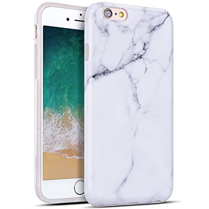 7a641786b28 MoEvn Funda para iPhone 6S Plus / 6 Plus, Mármol Suave TPU Silicona Carcasa  Flexible