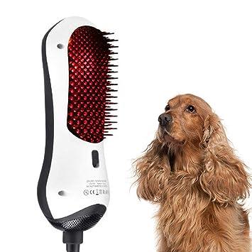 secador de Pelo para Mascotas 450W Peine de Masaje de Aseo 2 en 1 Ligero ergonómico ...
