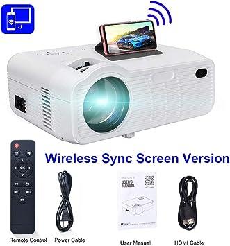 WHLDCD Proyector Mini proyector LED para Video de teléfono móvil ...