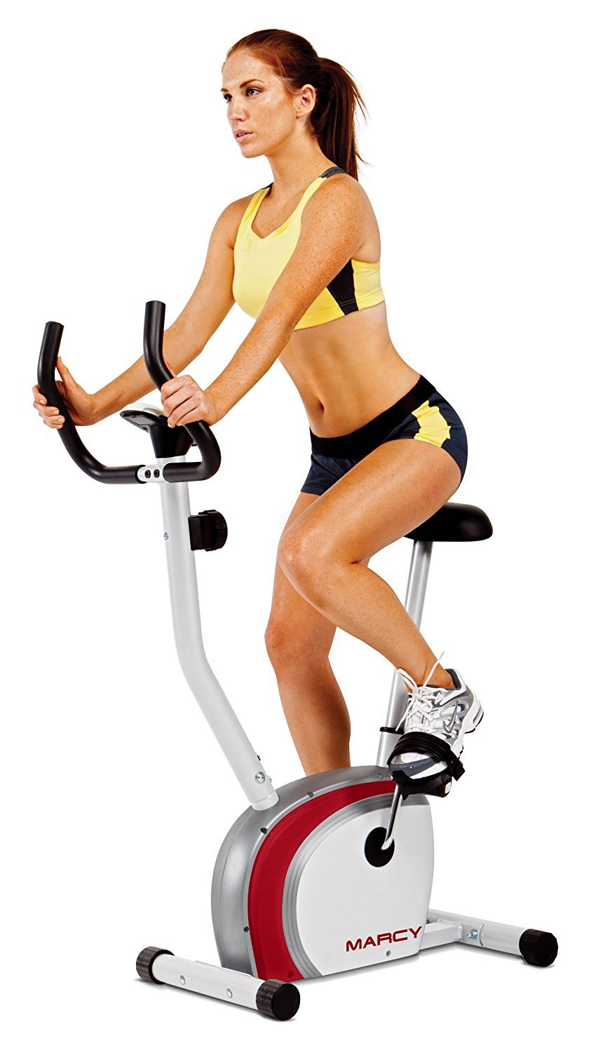 Marcy Upright Exercise Bike with Pulse, Adjustable Seat, and Magnetic Resistance NS-908U by Marcy