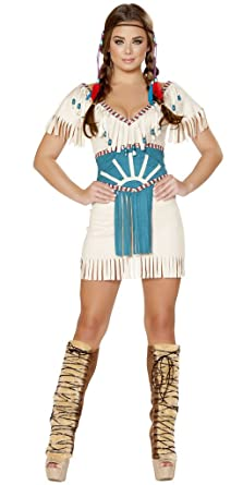 sc 1 st  Amazon.com & Amazon.com: Spirit Animal Indian Girl Halloween Costume: Clothing