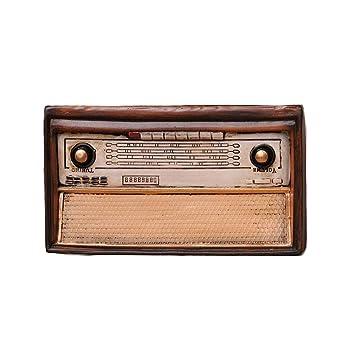 CR#ST Decoración de Radio Vintage, Antiguo Modelo de Radio Estilo Antiguo Resina Retro Decoración del hogar Artesanía Artículos de decoración Estudio ...
