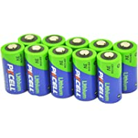 Camera Battery CR123A CR2 3V Lithium Primary Cell (CR123A 10Pcs)