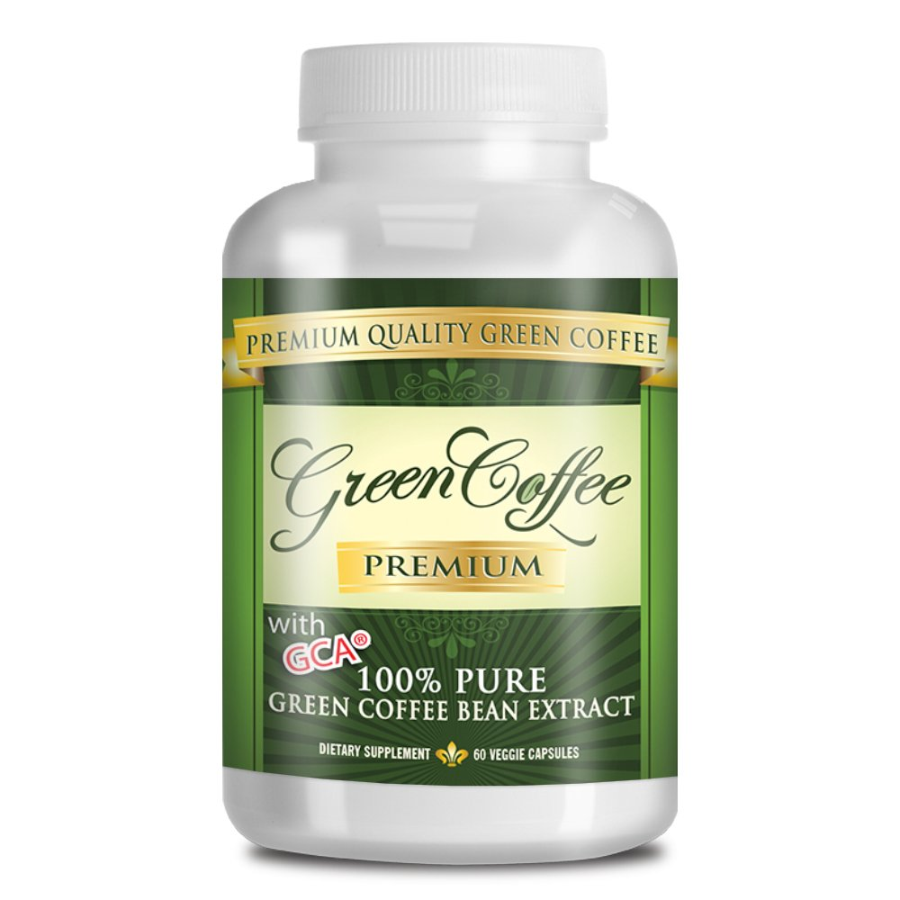 Green Coffee Bean Extract 100% PURE - 50% Chlorogenic Acid - 60 Capsules - Quick Fat Burner by Green Coffee Premium (Image #1)
