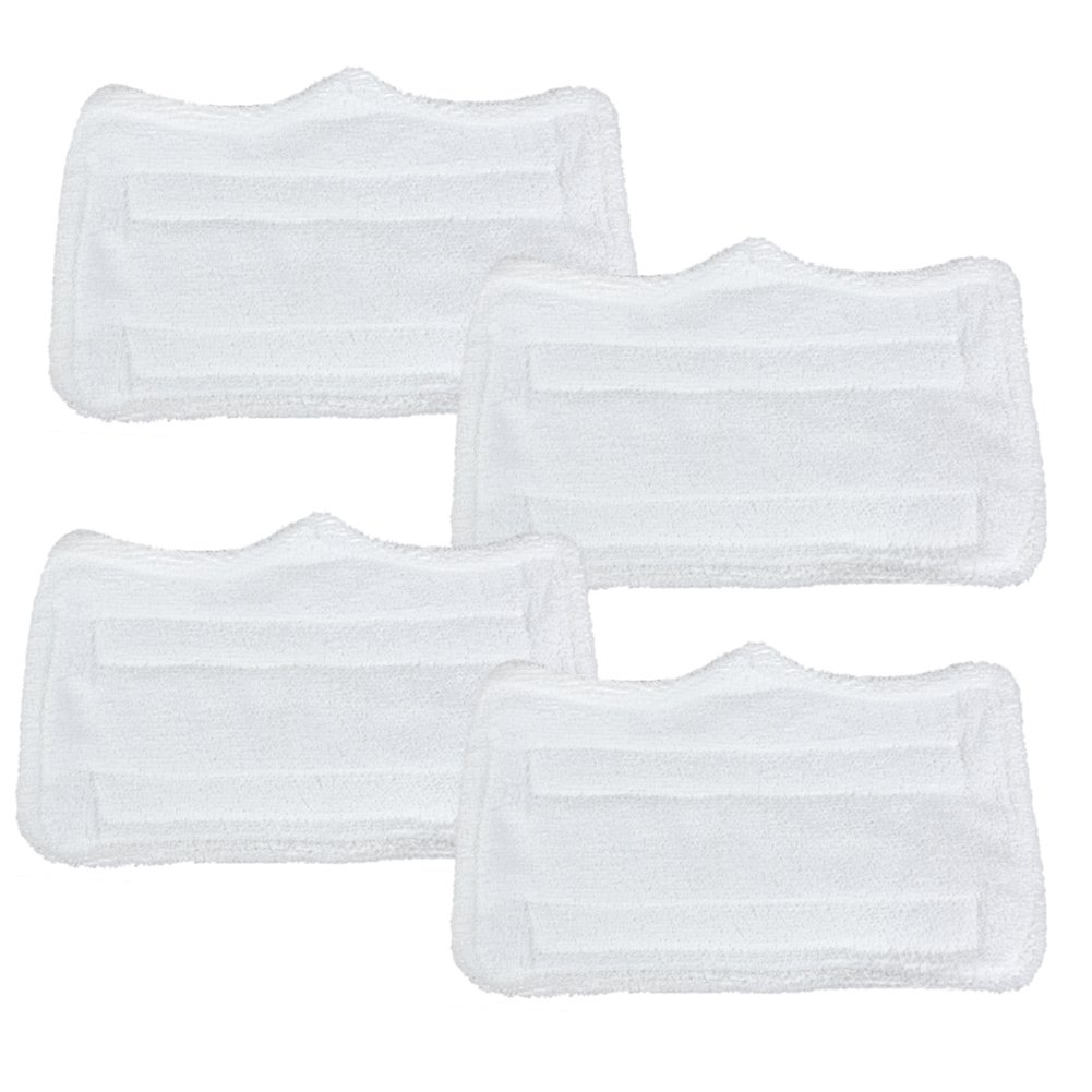 4 Pcs, The EIixir Eco Green Replacement Microfiber Cleaning Pads Compatible with Euro Pro Shark Steam Mop S3101 XT3010 S3111 S1001 SP100K S3250 S3202 SE200 SP100Q