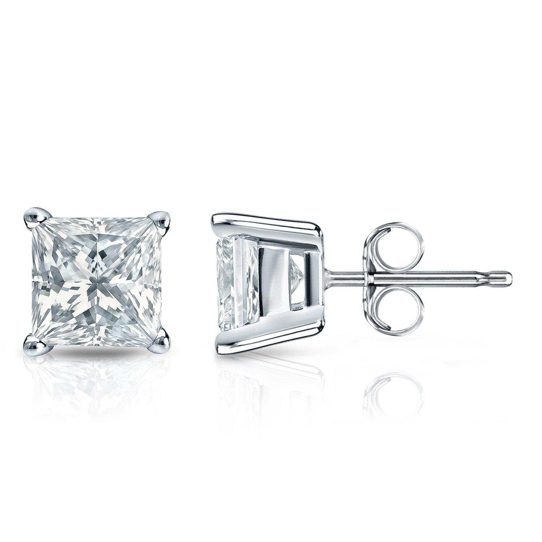 dde7e4a5795ef Diamond Wish 14k Gold Princess-cut Diamond Stud Earrings (1/5cttw, JK,  I2-I3) 4-Prong Basket, Push-Back
