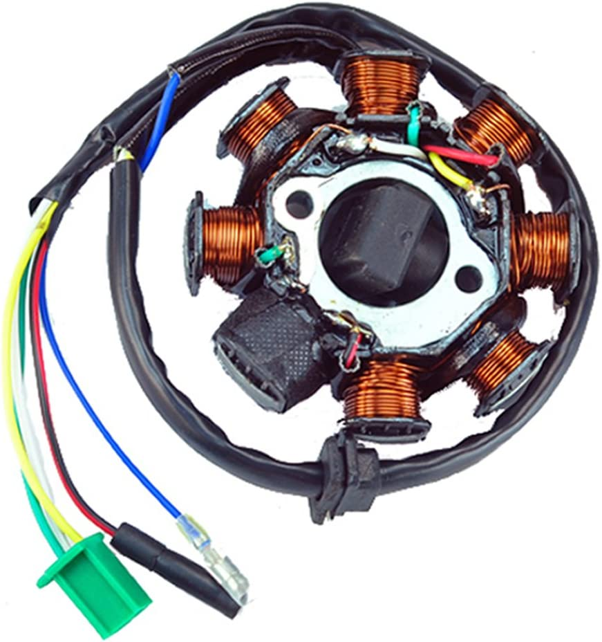 Amazon.com: New AC Magneto Stator 8-coil 8 Pole 5-wire Gy6 125cc 150cc ATV  Scooter: Sports & Outdoors