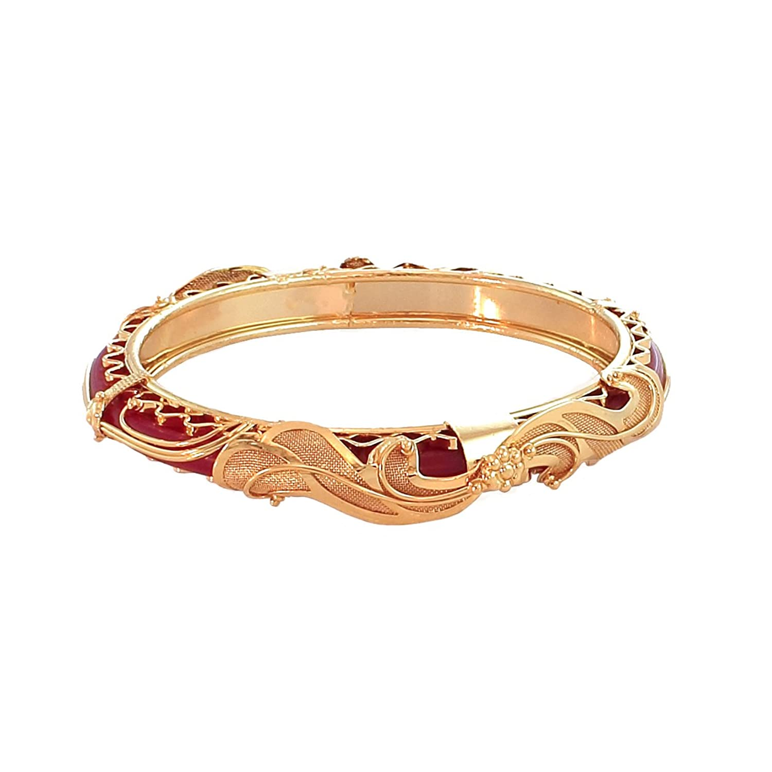 Buy Shreehari Jewellers Round Gold Plated Bangle for Women Online ...