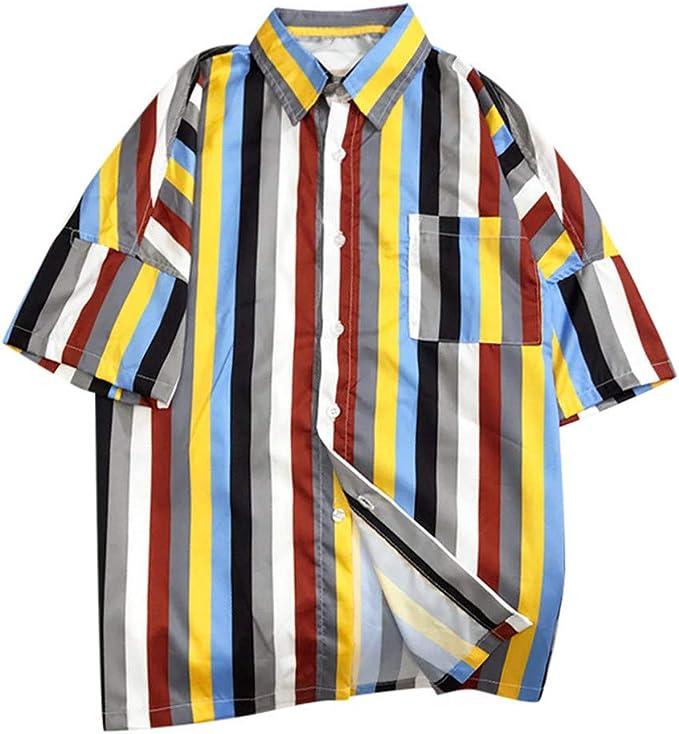 SoonerQuicker Camisa de Hombre Tops Shirt 2019 New Camisas de Moda ...