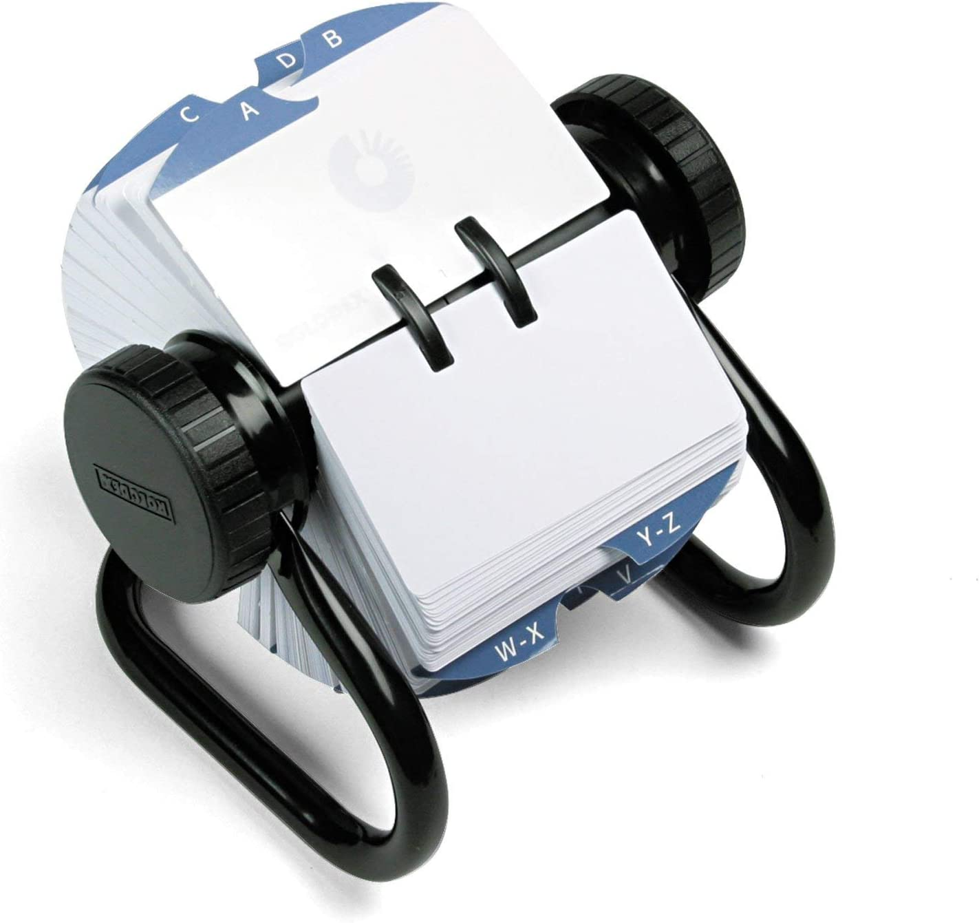 Rolodex Card File Box of 1 MESH Open Business Card File 125-Cards 2-1//4 x 4 Black ROL22291ELD