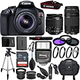 Canon EOS Rebel T6 18 MP Digital SLR Camera Kit with EF-S 18-55mm f/3.5-5.6 IS II Lens (Black), EF 75-300mm f/4-5.6 III Telephoto & Sandisk 32GB Memory Card - Accessory Bundle (Certified Refurbished)
