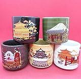 Sake Cup 5 Sakazuki Set Scenery of japan
