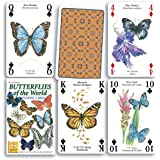 Butterflies of the World Standard Poker Playing Card Deck featuring butterfly and Moth