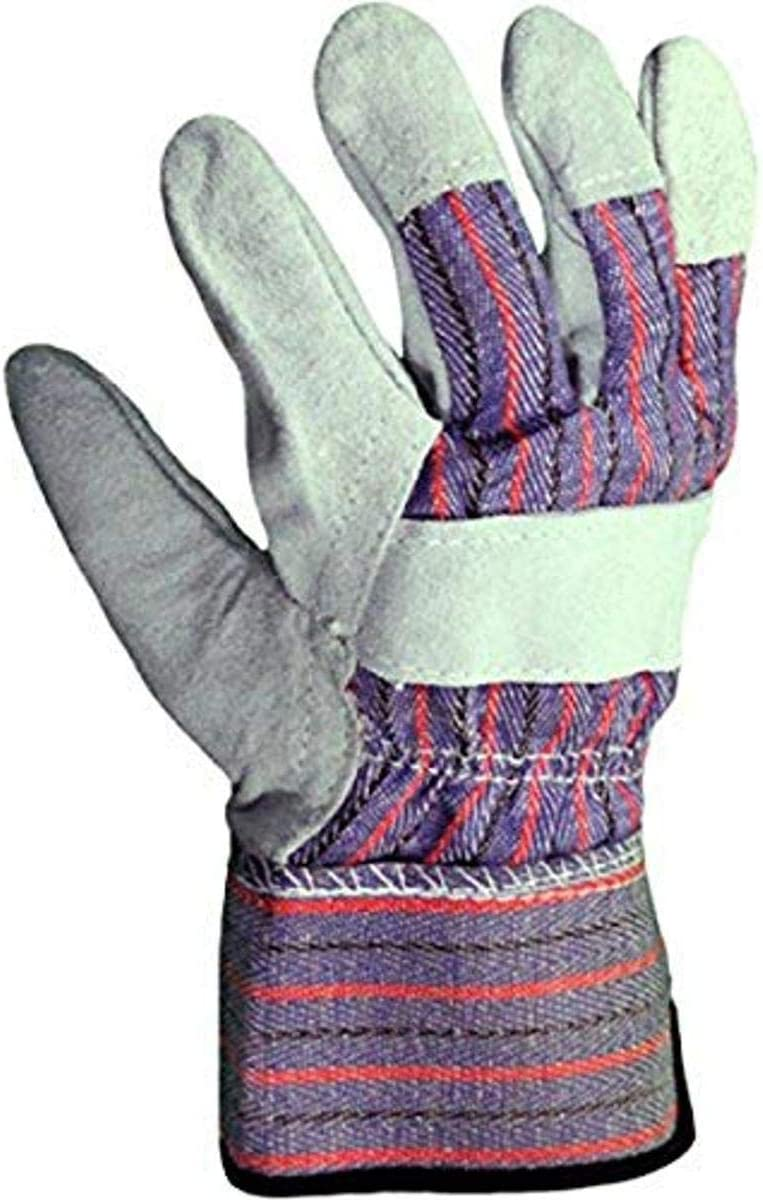 Azusa Safety S96115 Natural Leather Safety Work Gloves, Large, Natural Color (Case of 120 Pairs)