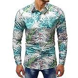Mens Long Sleeve Shirt ! Charberry Mens Printed Top Fashion Printed Blouse Casual Long Sleeve Slim Shirts Tops (US-M/CN-L, Multicolor)