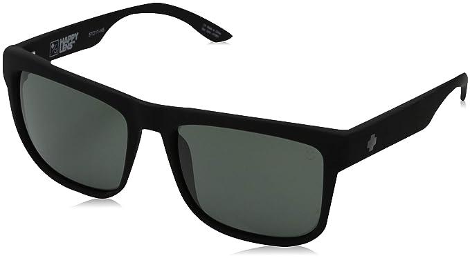04b7b83e156f Spy Optic Discord 673119973863 Square Sunglasses, Soft Matte Black,Happy  Gray & Green,