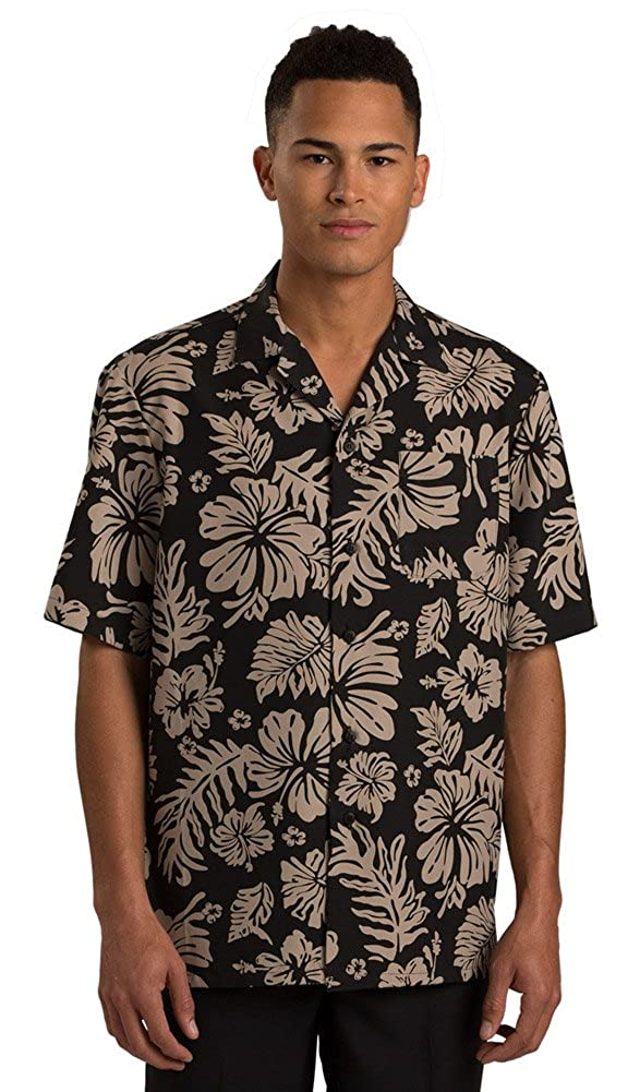Edwards 2-Color Hibiscus Camp Shirt