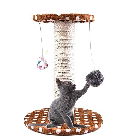 Awhao - Rascador para gatos con poste rascador y centro de actividades para mascotas, gatos