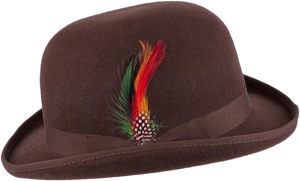 Braun Jaxon /& James Englischer Melone Hut aus Wollfilz