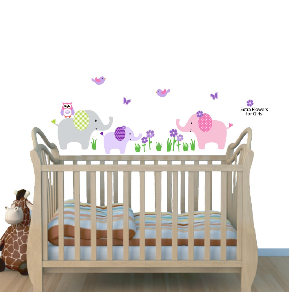 Amazon.com : Elephant Nursery Tree Decal, Pink Wall Stickers, Animal Decals,  Baby Pink : Baby Part 96