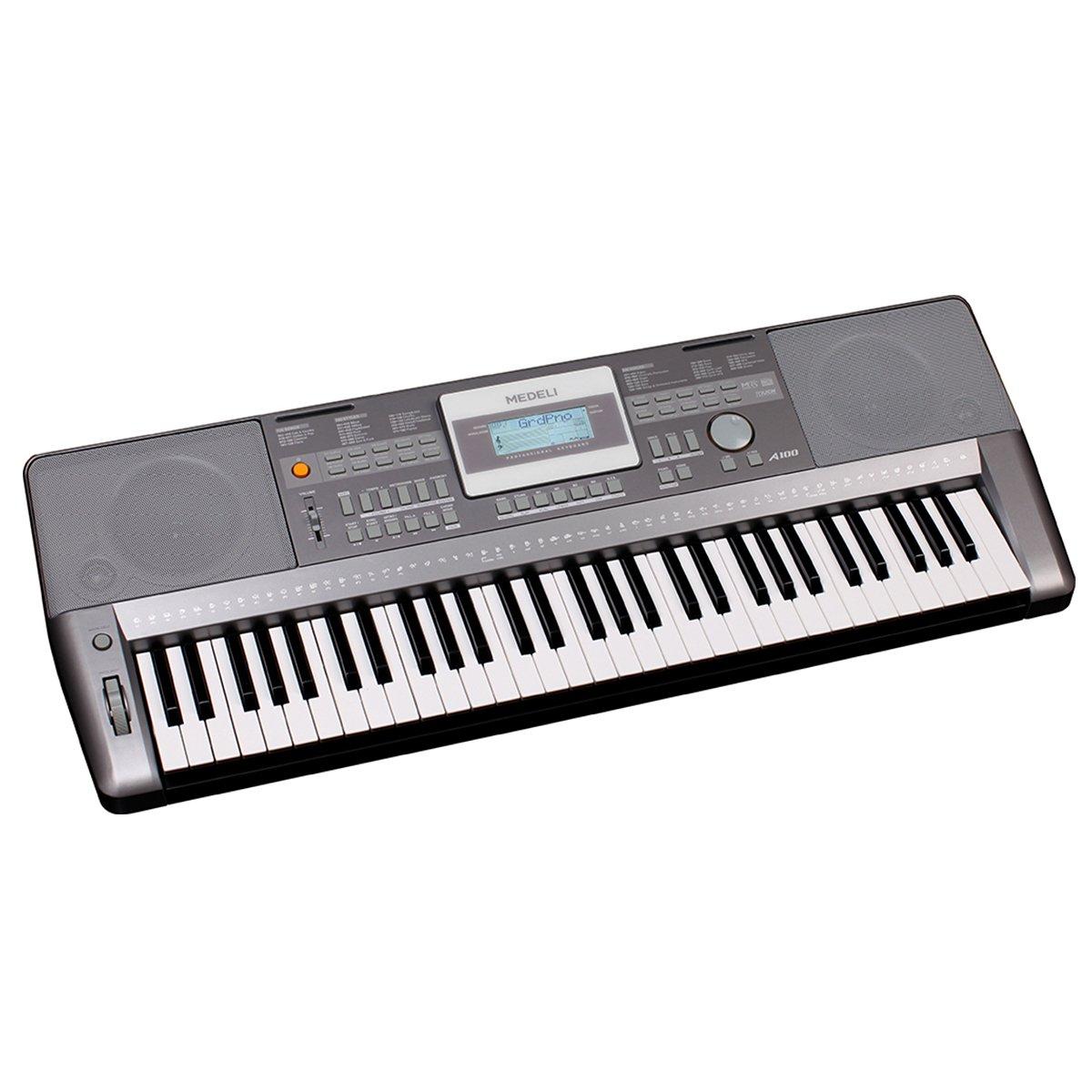 Medeli A100 - Teclado Electrónico Portátil, 61 Teclas Sensibles, USB Midi, Pantalla LCD Retroiluminada, 508 Voces, Polifonía 64: Amazon.es: Instrumentos ...