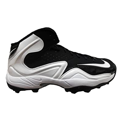 Nike Men s Zoom Merciless Pro Shark PF Football Turf Cleats 13.5 Black  White