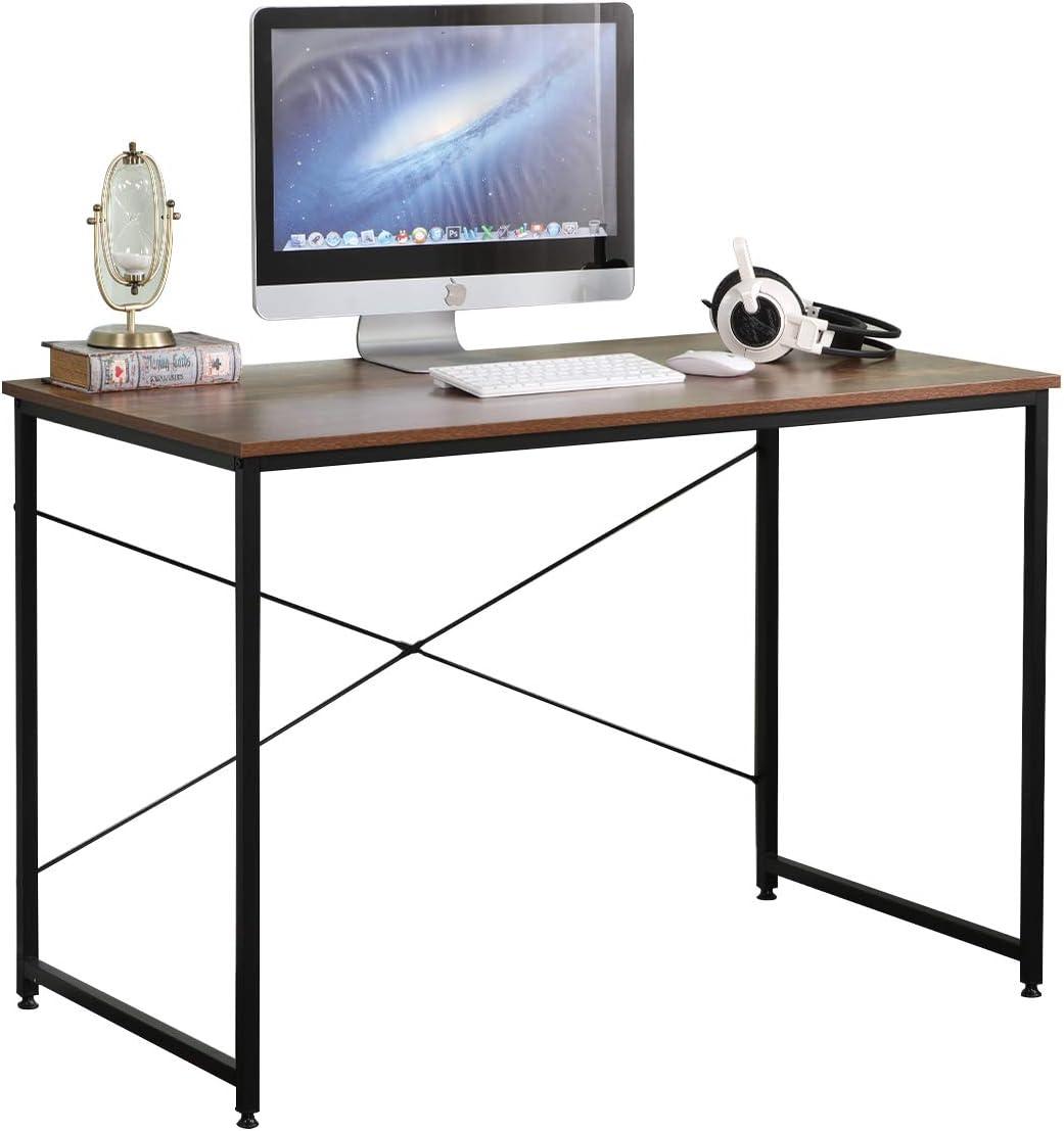 DlandHome Mesa de Ordenador 110x60cm Escritorio de Oficina Mesa de Estudio Puesto de Trabajo Mesa de Despacho