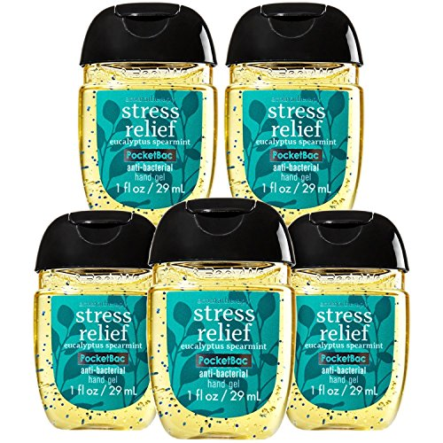 Bath and Body Works Stress Relief Pocketbac - Bundle of FIVE! Eucalyptus Spearmint Scent!