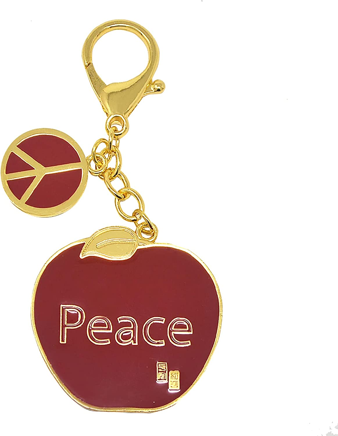 Red Apple-Love and Peace Hanging Keychain Brings Good Luck and Peace Keychain Decoration