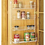 Rev-A-Shelf 565-10-52 Door Mount Spice Rack - Wire-White