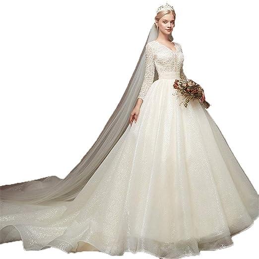 Vestidos de novia de novia de la mujer Las mujeres de manga larga ...