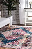Cheap nuLOOM MUVL06A Cynthia Medallion Vintage Area Rugs, 5′ x 8′, Multicolor